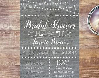 Custom Invitation, Country Wedding Invitations, Bridal Shower Invite, Printable Invitation, Birthday Invitation, Anniversary Invitation