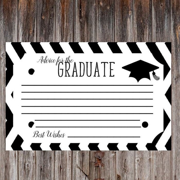 Intrepid image within free printable graduation advice cards