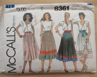 """McCalls skirt size 14, waist 28"""""""