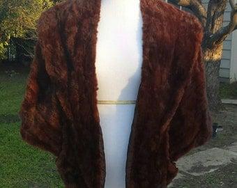 Red Sable Mink Stole - Vintage 40s / VLV