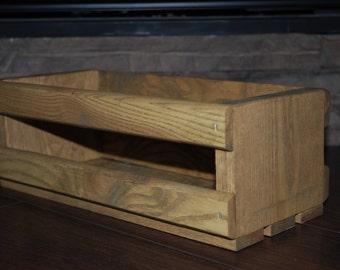Wood box, crate centerpiece