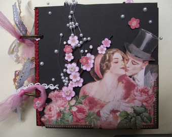 Graphic 45 Mon Amour Mini Scrapbook Album Perfect for a Wedding or Anniversary or Shower Gift