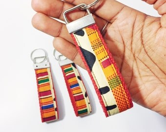 African Print Key Fob // Keychain // Gift for Him // Gift for Her // Kente Key Chain