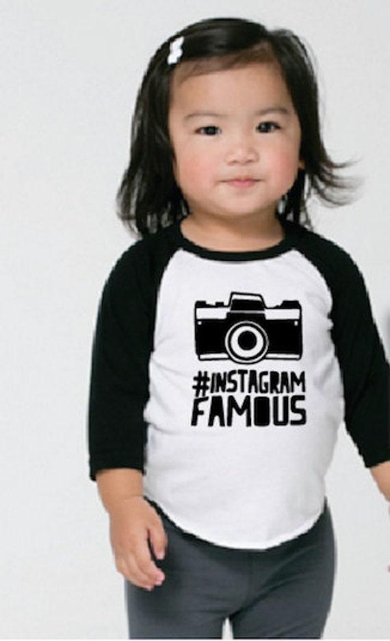 Instagram Famous Raglan Kids Boys Girls T-Shirt By Sweetetots