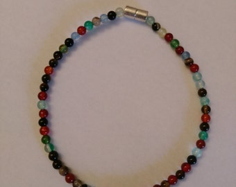 Mixed Agate bracelet with jewellery magnet