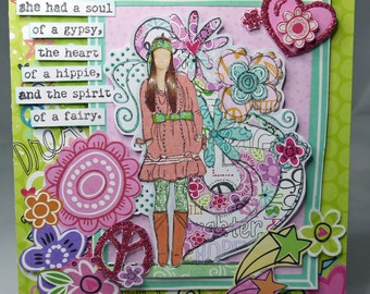 Inspirational One of a Kind Handmade Card