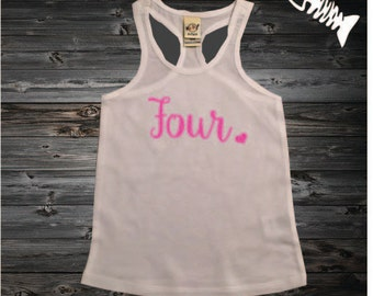 4 year old birthday shirt girl four year old birthday outfit racerback tank shirt 4th birthday