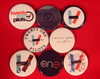 8 Twenty One Pilots Pin Buttons 1.25 Inch Diameter
