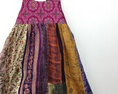 8 Years Pocket Sari Maxi Dress, Bohemian Kid Fashion, Boho Kids, Girls Maxi Dress, Hippie Dress, Kids Maxi, Hippie Flower Girl