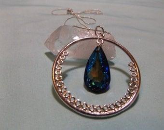 Bermuda Blue Swarovski Pendant