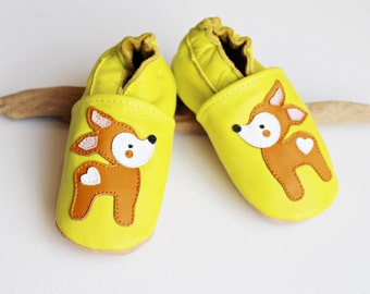 Baby shoes leather slippers organic 18 19