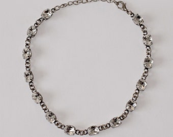 Vintage Swarovski Crystal Silver Plated Brass Classic