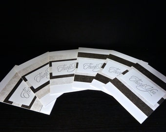 Set of 6 Thank You Cards ~ Greeting Card Set