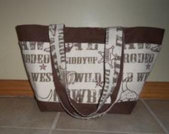 Cowboy Tote Diaper Bag