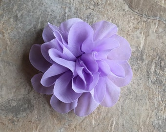 "4.2""  Chiffon flowers, LAVENDER, headband flowers, lavender flowers, headband supplies, material flowers, chiffon flowers, chiffon, weddings"