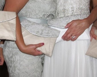 custom personalized bridesmaid clutches!