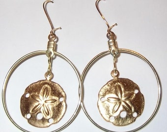 Round Gold Hoop Earrings