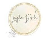 Business Logo, Round Logo, Photography Logo, Premade Logo, Graphic Design, Gold Logo, Gold Foil Circle