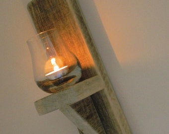 Pair of reclaimed Pallet wood wall sconces