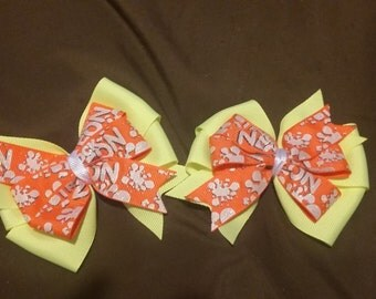 Double Layer Pinwheel Bow Pigtails