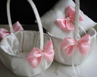 Wedding Ring Pillow Basket Set \