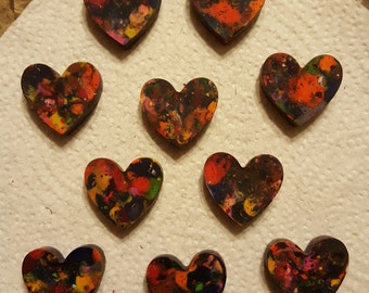 Rainbow heart crayons