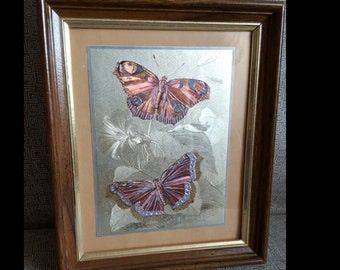 Butterfly Etched Art