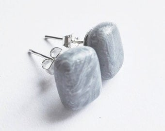 Marble polymer clay earrings