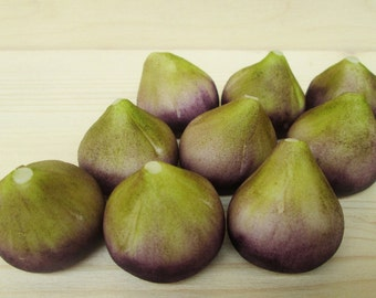 Marzipan Figs (9) - 3D marzipan fruit - marzipan fruit gift box - fondant figs - fondant fruit - fig candy - fruit cake topper