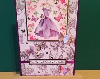 Female Butterfly Card (Purple)