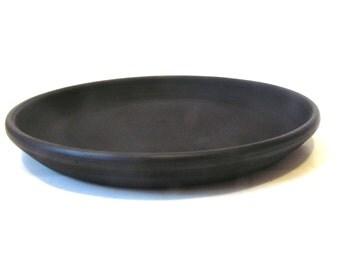 Ceramic Plate - Black ceramic Plate - Eco Ceramics - Black-smokey clay - Clay plate - Serving Plate - Handmade - Organic dishes
