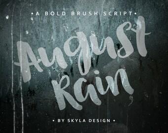 Modern brush font, Bold script, font download, hand lettered font, hand written font, bold font, fun font, digital download, kids font,