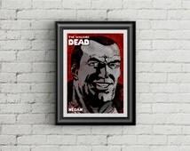 The Walking Dead Negan Comic Poster