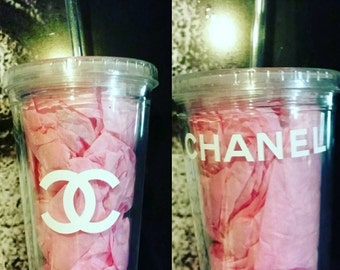 Set of 2 Chanel Inspired tumblers