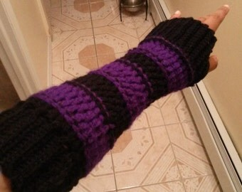 Stripped Fingerless Arm Gloves (Pair)-Custom Colors