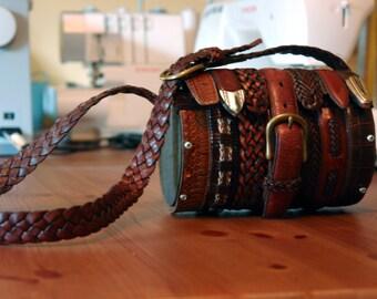 Leather Belts Re-imagined Handbag