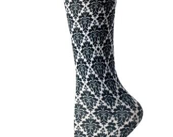 Cutieful Therapeutic Compression Socks - Black Flowers