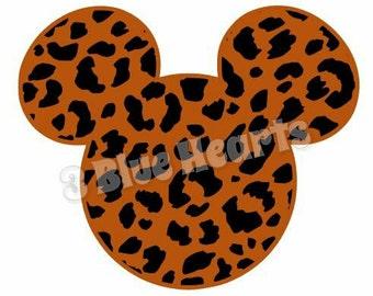 Cheetah Mickey Head SVG Studio, Animal Print Mickey Head SVG Studio, Animal Mickey Head SVG Studio, Mickey Head svg Studio