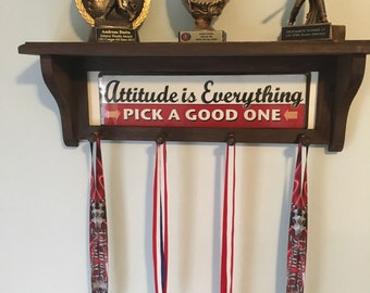 Personalized trophy/medal shelf