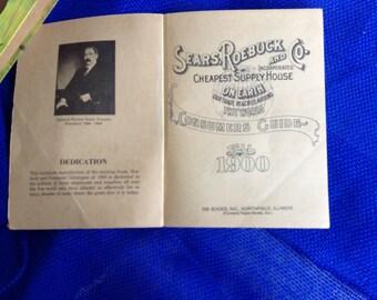 Sears, Roebuck and Company Consumer Guide, fall, 1900