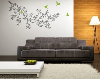 Spring Branches Grey Wall Sticker