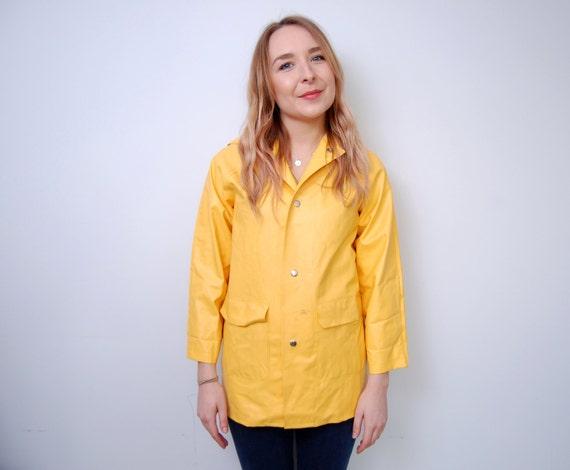 Vintage Fisherman Jacket Yellow Rain Coat Mac Festival