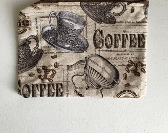 Coffee zipper pouch