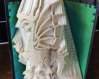 dragon winged fantasy book folding design