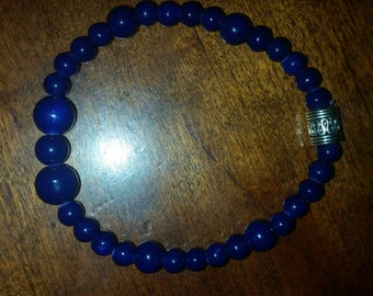 Stunning navy blue beaded bracelet