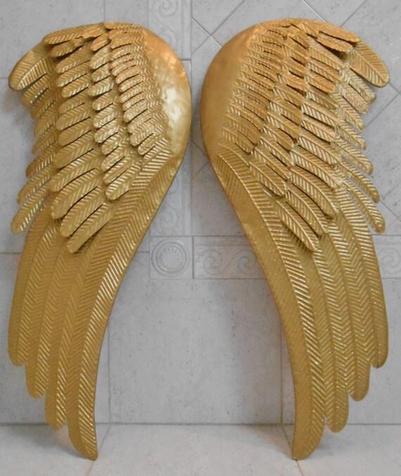 Angel Wings Home Decor: Gold Angel Wings / Metal Angel Wings / Large By