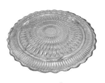 Vintage Etched Glass Cake Plate ~ Unique Cake Plate ~ Unique Wedding Cake Stand ~ Vintage Wedding ~ Vintage Cake Plate ~ Vintage Wedding