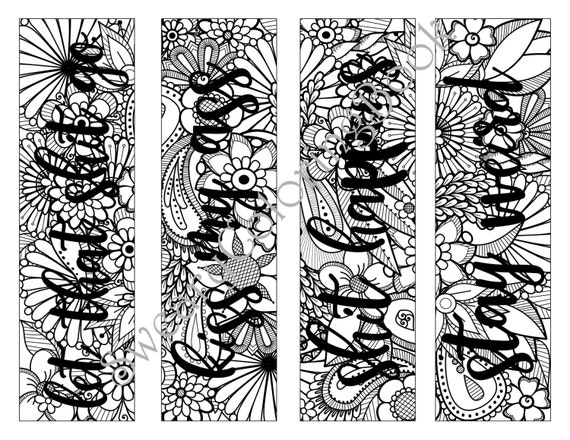 Bookmarks Swear Words Coloring Page From The By