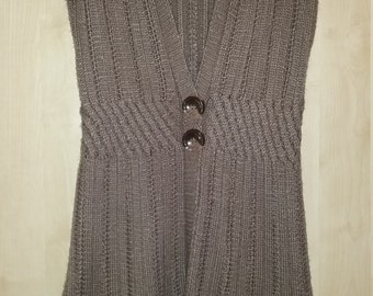Hand Knit Sleevless Sweater