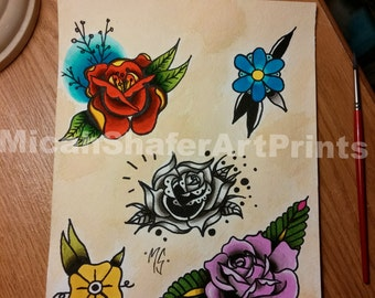 Flower Tattoo Flash page